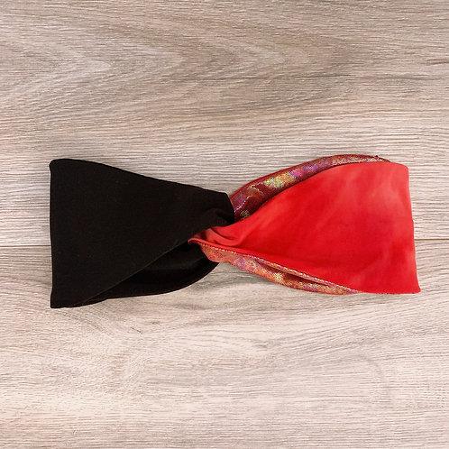 Cintillo Turbante rojo negro