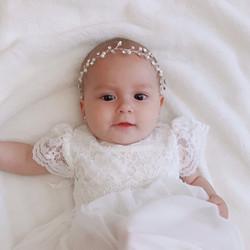 Tiara Cristal y Perlas