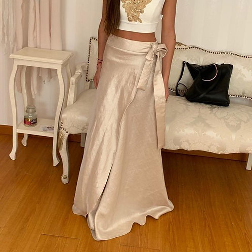 Falda pareo dorada