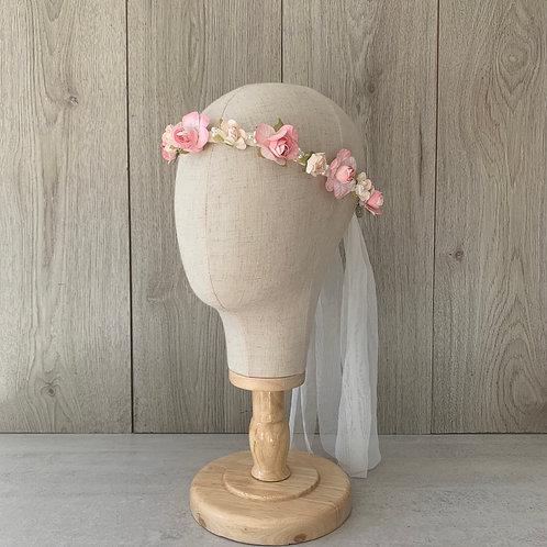 Cintillo comunión Rosa/rosa