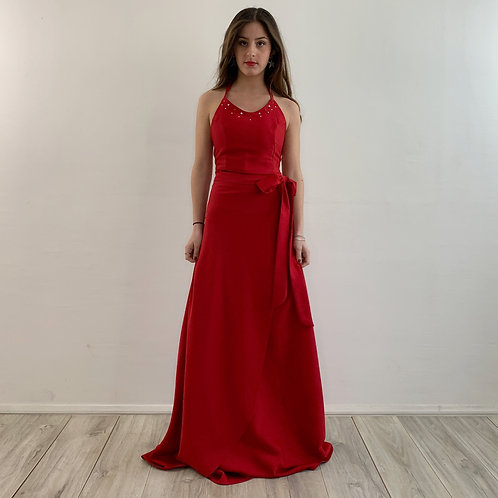 Falda pareo roja