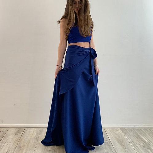 Falda pareo azul B