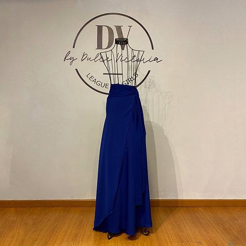 Falda pareo azul A