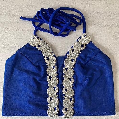 Top Pancha M Azul plata