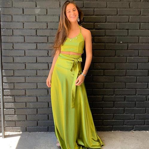 Falda pareo verde claro
