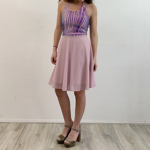 Vestido Agustina lila rosa