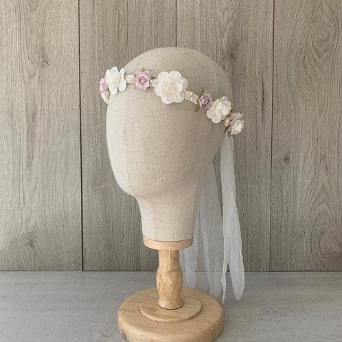 Cintillo comunión Blanco/rosa