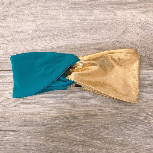 Cintillo Turbante dorado calipso
