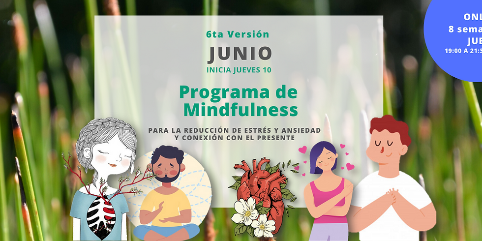 Programa Mindfulness JUNIO online (Jueves)