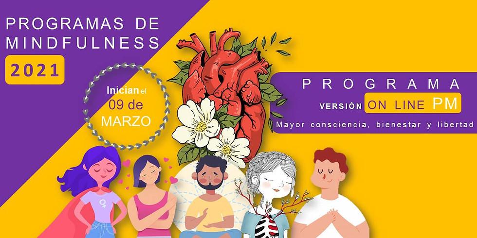 Programa MARZO Martes PM Mindfulness (ONLINE)