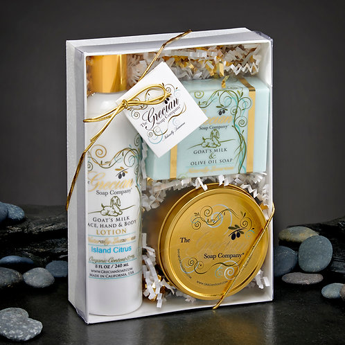Lotion, Soap and Candle Gift Set