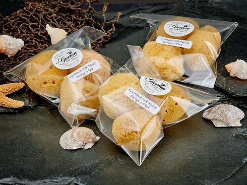 Caribbean Silk Facial Sponge 3-Pack