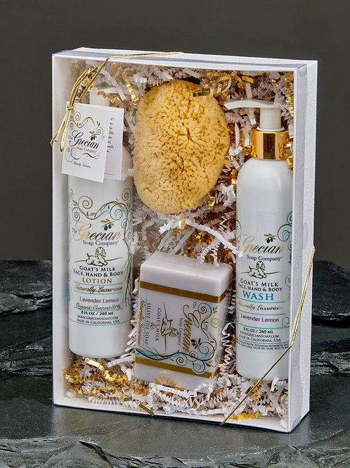 Lotion, Body Wash, Soap and Sponge Gift Set