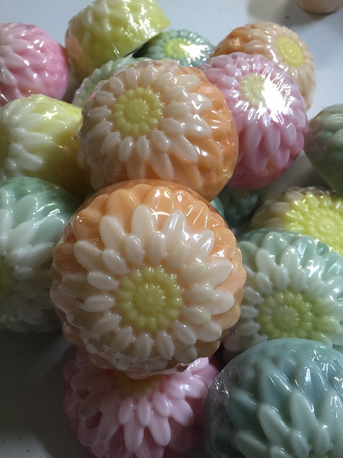 Dahlia Flower Soaps