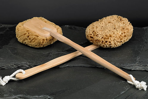 Natural Sea Wool Sponge on a Stick