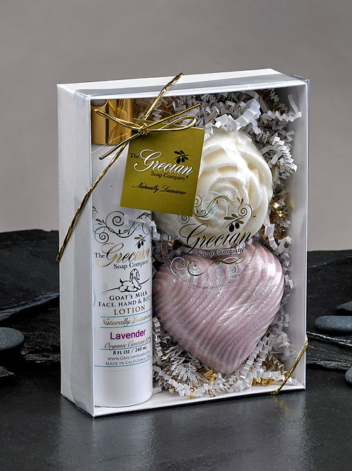 Lotion, Heart and Rose Gift Set