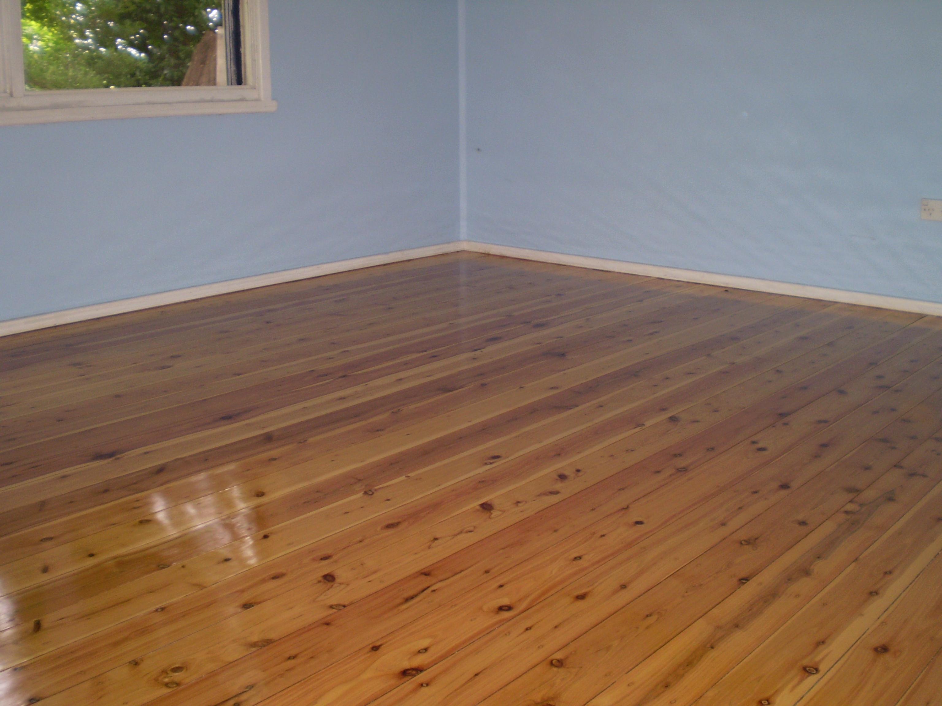 Cypress pine floor