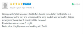 Reviews from clients whom I recorded for