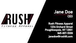 Rush Business Card