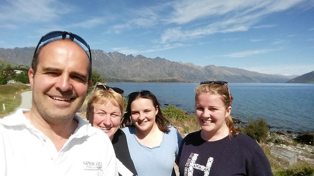 Vanessa van Uden and her family.