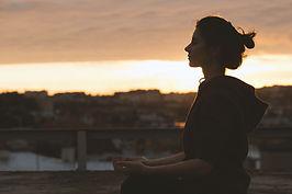 žena Meditating