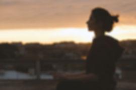 Mediteren van de vrouw