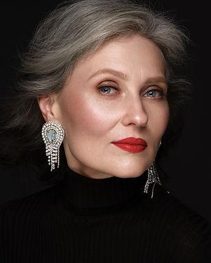 Portrait of a beautiful elderly woman in