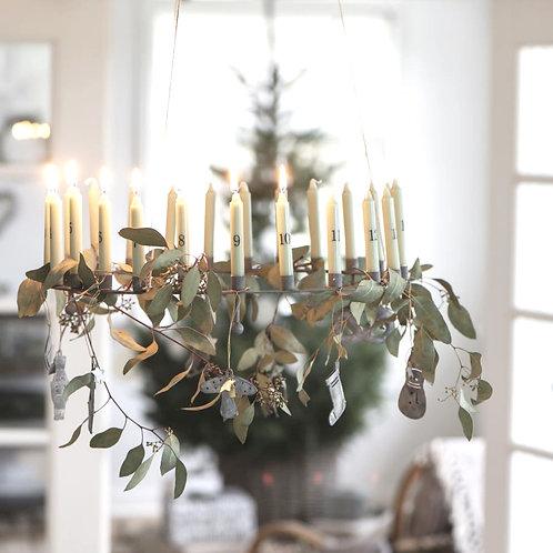 grosser Adventskerzenhalter für 24 Kerzen