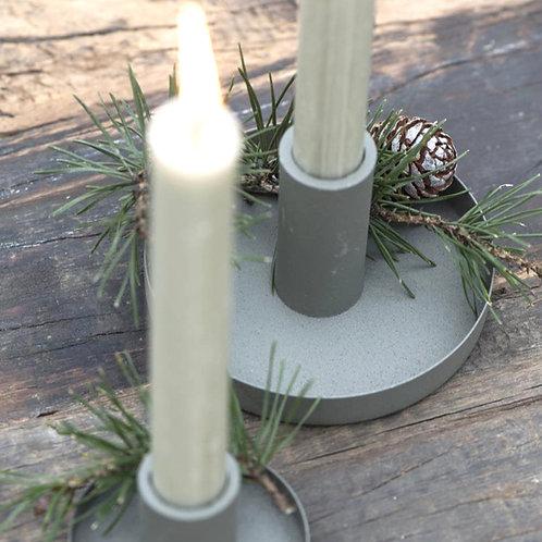 Kerzenhalter gross Moosgrün für Stabkerzen