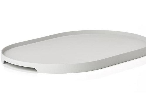 Sevierplatte Grau oval, breit