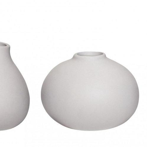 rundliche Vase hellgrau