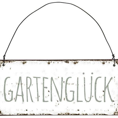 """Metallschild """"Gartenglück"""""""