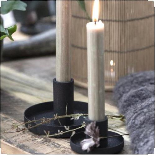 Kerzenhalter Schwarz gross für Stabkerzen