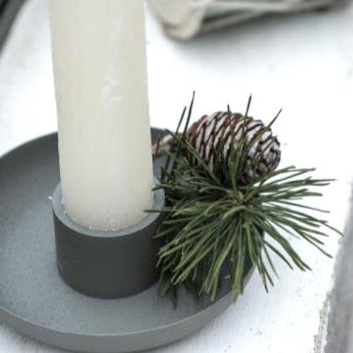 Kerzenhalter Moosgrün für dicke Stabkerzen