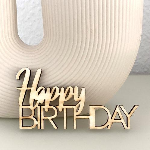 """Holzschrift """"Happy Birthday"""""""
