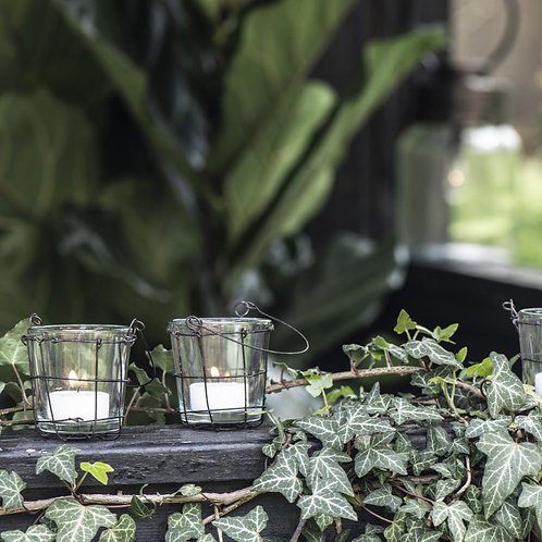 Teelicht Kerzenhalter mit Henkel