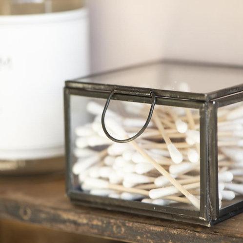 Glasbox mit Deckel schwarz