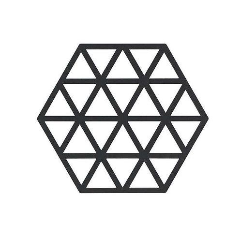 Topfuntersätzer  Triangle schwarz