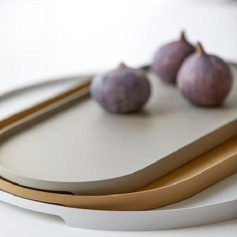 Sevierplatte Khaki oval, breit