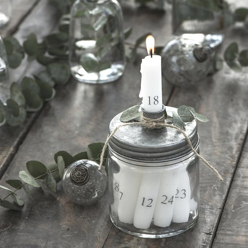 Kerzenglas mit Metall Schraubdeckel