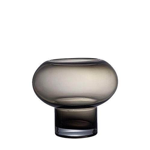 Base Vase oder Windlicht Smokegrau