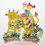 春牛と子供