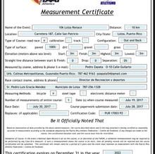 Certificación Ruta 10K Loíza Renace