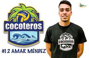 Amar Méndez - Liga Puertorriqueña de Voleibol Superior - Cocoteros de Loíza 2019 - 2020