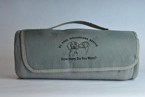 Grey DC Weim Picnic Blanket