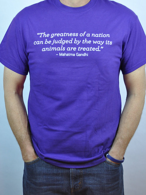 Purple Ghandi T-Shirt