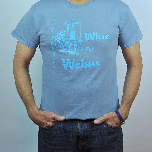 Light Blue Wine & Weim Shirt