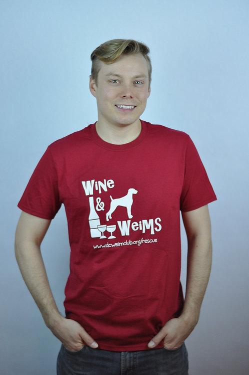 Wine & Weim Red T-Shirt