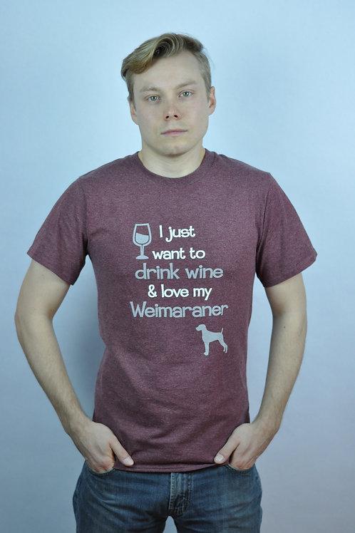 Maroon T-Shirt DC Wine & Weim