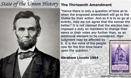 13th Amendment is the first of three from the Civil War